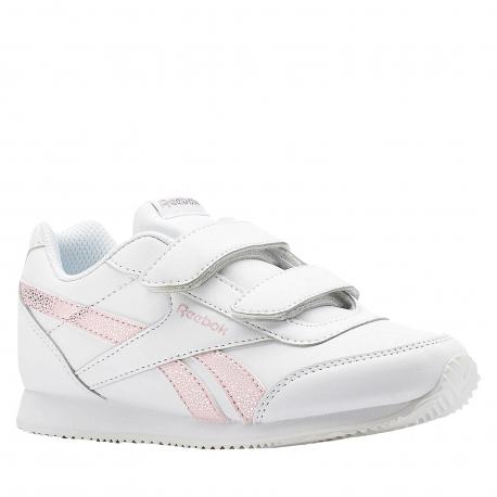 Juniorská rekreačná obuv REEBOK-REEBOK ROYAL CLJOG WHITE/PRACTICAL PINK