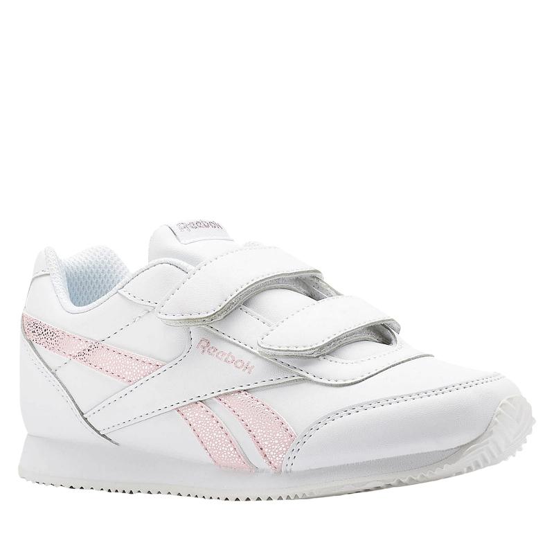 Juniorská rekreačná obuv REEBOK-REEBOK ROYAL CLJOG WHITE/PRACTICAL PINK -