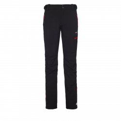 Pánske turistické softshellové nohavice BERG OUTDOOR-CANILLO BLACK/RED