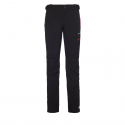 Pánske turistické softshellové nohavice BERG OUTDOOR-CANILLO BLACK/RED -