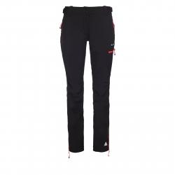 Dámske turistické softshellové nohavice BERG OUTDOOR-CANILLO BLACK/CORAL