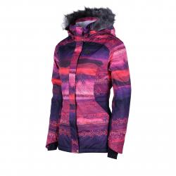 Dámska lyžiarska bunda FUNDANGO-Massa fur-ruby