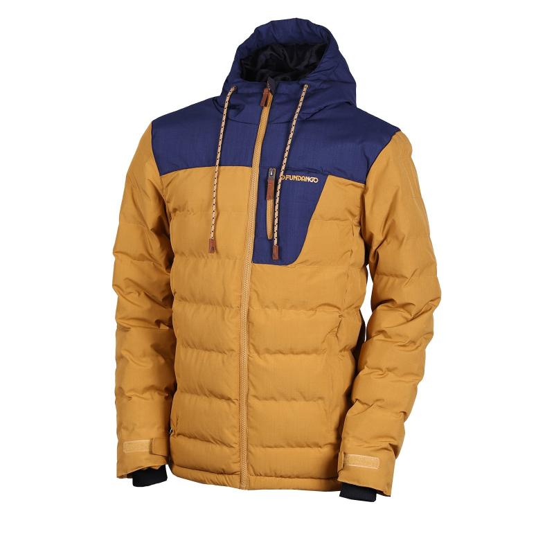 Pánska bunda FUNDANGO-Passat-golden brown -