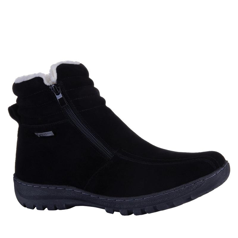Dámska zimná obuv stredná SOFT DREAMS-Avara black -