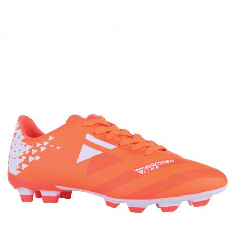 Pánske futbalové kopačky outdoorové LANCAST-READYS ESTADO M FG orange/white