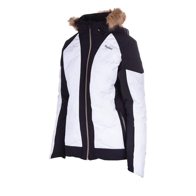 Dámska lyžiarska bunda BLIZZARD-Viva Jacket Cortina, black/white/copper -