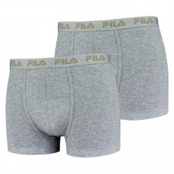 Pánske boxerky FILA-FU5004 BOXERS 2-PACK 400-Grey