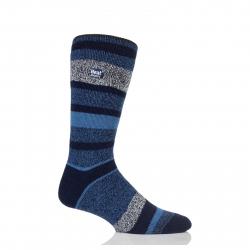 Pánske ponožky HEAT HOLDERS-LITE fashion STRIPE šedo/modré