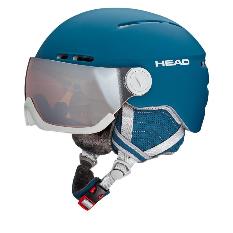 Dámska lyžiarska prilba so štítom HEAD-Queen blue  ef49ff0653b