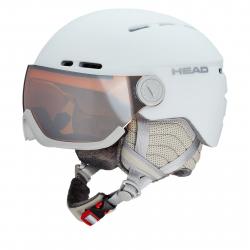 Dámska lyžiarska prilba so štítom HEAD-Queen white