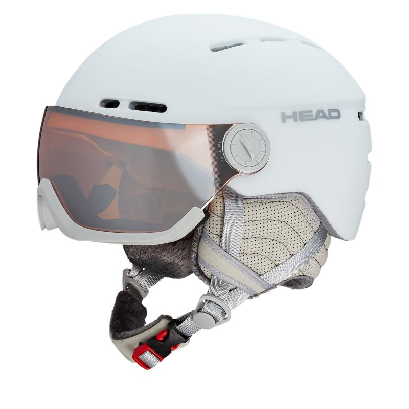 Dámska lyžiarska prilba so štítom HEAD-Queen white - d82cbbbfcc8
