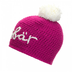 Zimná čiapka EISBÄR-Til Pompon MÜ deep pink/ Stick + Pom white