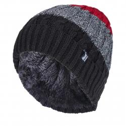 Pánska zimná čiapka HEAT HOLDERS-Pánska čiapka prúžkovaná MALMO šedá