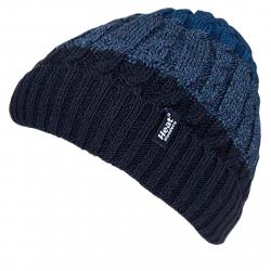 Pánska zimná čiapka HEAT HOLDERS-Pánska čiapka prúžkovaná MALMO modrá
