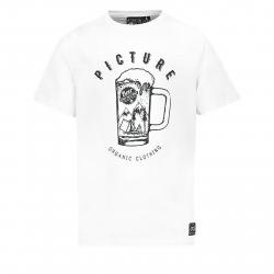 Pánske tričko s dlhým rukávom PICTURE-Beer S/S MTS513-WHITE