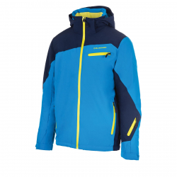 Pánska lyžiarska bunda BLIZZARD-Mens Jacket Scheffau, blackblue/blue/lime