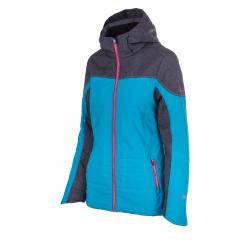 Dámska lyžiarska bunda BLIZZARD Viva Jacket Livigno, black melange/turquoise/pin