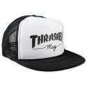 Šiltovka THRASHER-Mag Logo Printed Mesh Cap BLACK/WHITE -