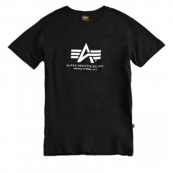 Pánske tričko s krátkym rukávom ALPHA INDUSTRIES-Basic T black