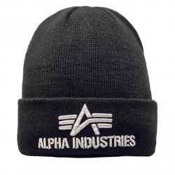 Zimná čiapka ALPHA INDUSTRIES-3D Beanie black