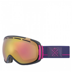 Lyžiarske okuliare CÉBÉ FEELIN - Mat Black Purple Pink / LIGHT ROSE FLASH GO