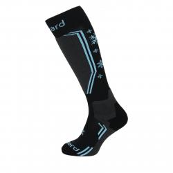 Dámske lyžiarske podkolienky (ponožky) BLIZZARD Viva Warm ski socks, black/grey/blue