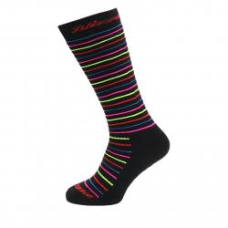 Juniorské lyžařské podkolenky (ponožky) BLIZZARD-Viva Allround ski socks junior, black / rainbow strip