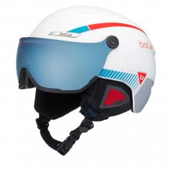 Lyžiarska prilba BOLLE B-YOND VISOR - WHITE WITH AMBER BLUE VISOR CAT2 96e7fad628e