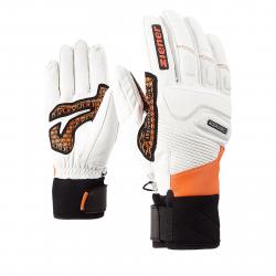 Pánske lyžiarske rukavice ZIENER GISOR AS(R) - poison orange
