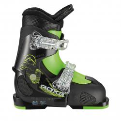 Chlapčenské lyžiarky ROXA-CHAMELEON 2 BOY Black/black/lime