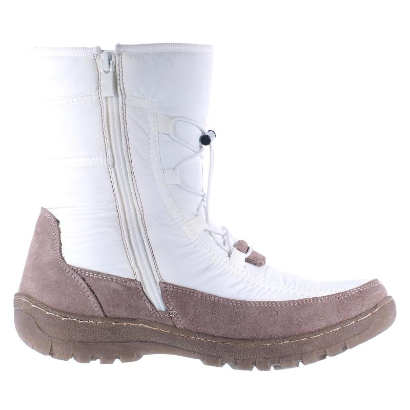 Dámska zimná obuv vysoká SOFT DREAMS-Carina white -
