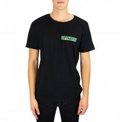 Tričko s krátkym rukávom OPTIMISTA-Tričko čierne - zelené logo