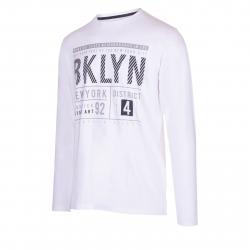 Pánske tričko s dlhým rukávom AUTHORITY-TAREKON white