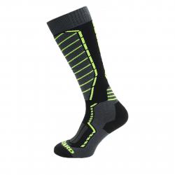 Lyžiarske podkolienky (ponožky) BLIZZARD Profi ski socks black/anthracite/signal yellow