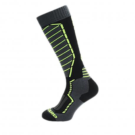 Lyžiarske podkolienky (ponožky) BLIZZARD-Profi ski socks, black/anthracite/signal yellow