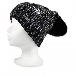 Dámska zimná čiapka VOXX-Meriva Black/siler