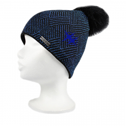 Dámska zimná čiapka VOXX-Mokka Black/blue