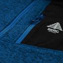 Pánska turistická flisová mikina s celým BERG OUTDOOR-ARINSAL BLUE -