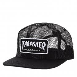 Šiltovka THRASHER-Magazine logo mesh BLACK/WHITE