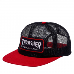 Šiltovka THRASHER-Magazine logo mesh BLUE/RED