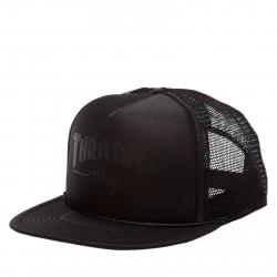 Šiltovka THRASHER-Mag Logo Printed Mesh Cap BLACK