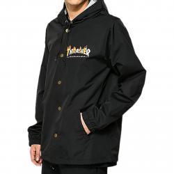 Bunda THRASHER-Flame Mag Coach Jacket BLACK