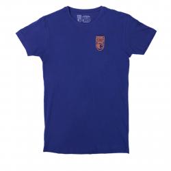 Tričko s krátkym rukávom OPTIMISTA-Tričko fialové nášivka