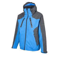 Pánska lyžiarska bunda ALPINE CROWN MENS SKI JACKET ULTIMATE-BlueGrey
