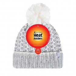 Dámska zimná čiapka HEAT HOLDERS-Dámska čiapka LUND HH s perovým pletením šedá