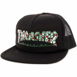 Pánska šiltovka THRASHER-Rose Mesh Hat BLACK
