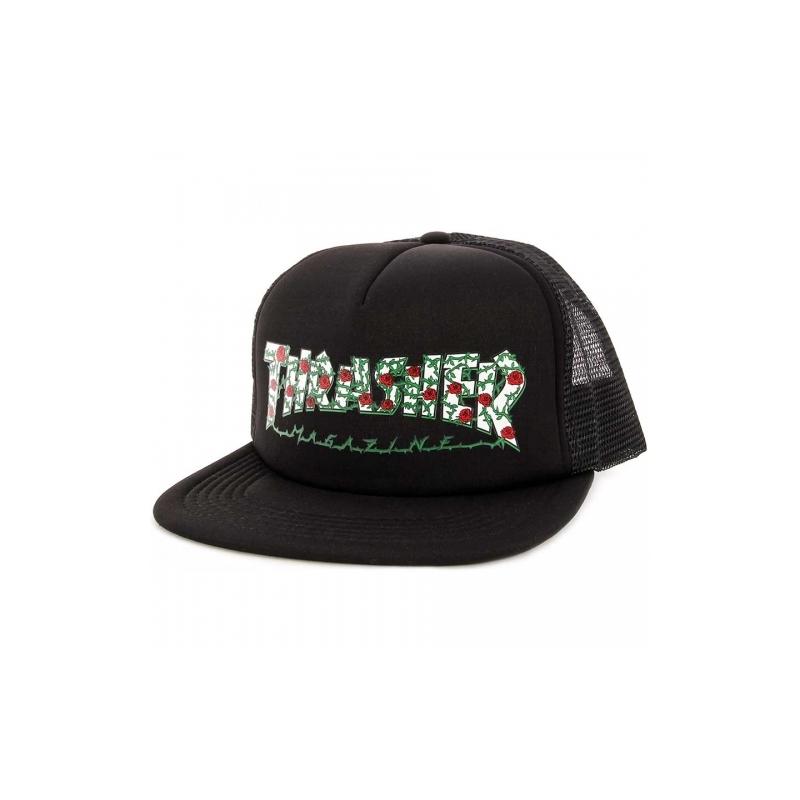 Pánska šiltovka THRASHER-Rose Mesh Hat BLACK -