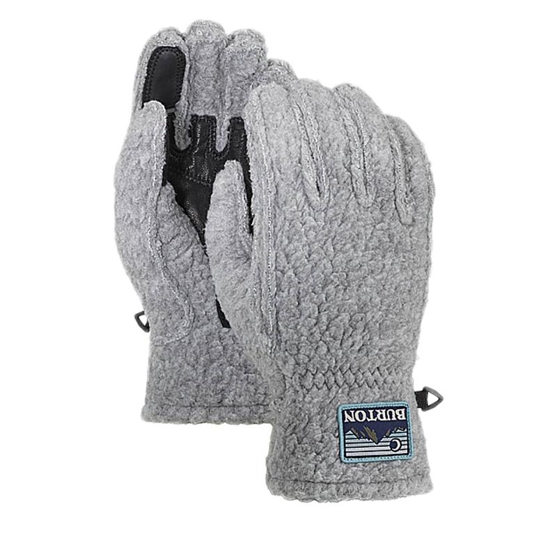 Pánske rukavice BURTON-STOVEPIPE FLC GLV GRAY HEATHER -