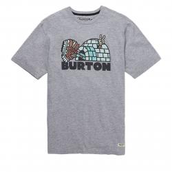Tričko s krátkym rukávom BURTON-MB CUPAJO SS GRAY HEATHER
