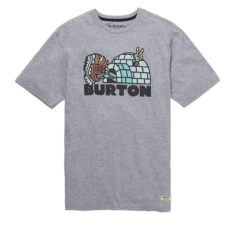 Tričko s krátkym rukávom BURTON-MB CUPAJO SS GRAY HEATHER -
